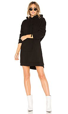 Agolde-Hoodie-Sweatshirt-Dress-Black
