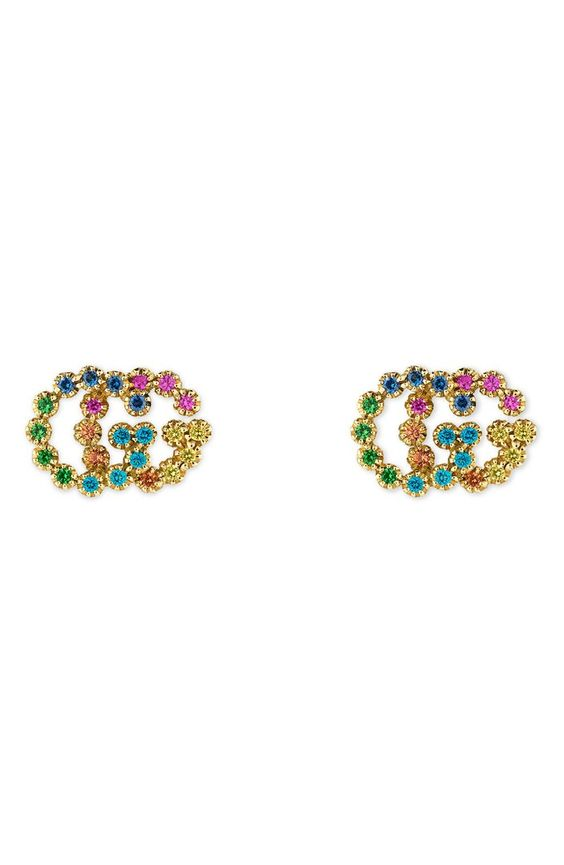 Gucci-G-Stud-Earrings-Colorful