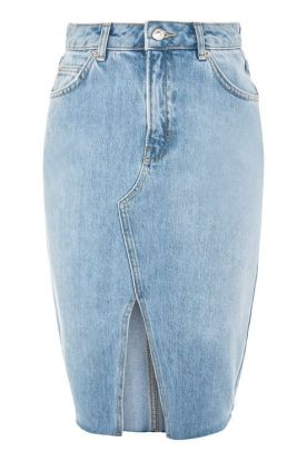 Topshop-Moto-Denim-Midi-Skirt