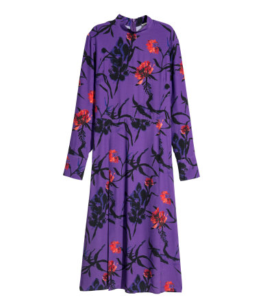 Ultra-Violet-HM-Patterned-Dress-Purple