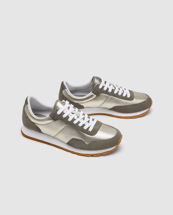 Zara-Metallic-Sneakers-Leather