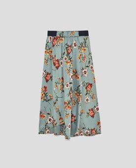 Zara-Sale-Floral-Midi-Skirt
