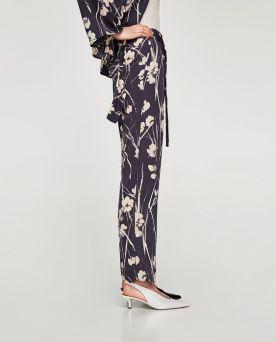 Zara-Sale-Floral-Trousers-Pants