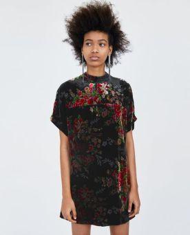 Zara-Sale-Velvet-Dress