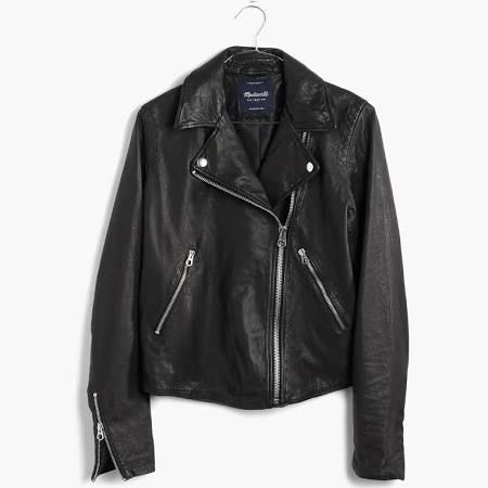 Black-Leather-Moto-Jacket-Melissa-At-Work-1